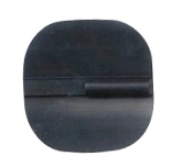 "Carbo-Stim 1.75"" x 1.75"" Sq., Non-Gel, Black Carbon Rubber"