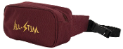 "Carrying Case--Burgundy Fabric, Waist Tote w/40"" strap"