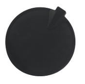 "3"" Rnd, Pin, Insulated, No-Gel, Carbon Rubber, Blk"