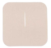 "Uni-Patch™ 3"" x 3"" Tape Patches w/Slit, Low Tac, Tan Tricot"