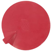 "4"" Rnd. Banana , Insulated, Non-Gel, Carbon Rubber, Red"