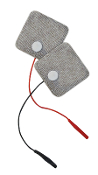 "Electro-Mesh™ 2"" x 2"" Rect, Adhesive Silver Fabric"