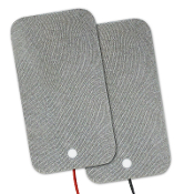 "Electro-Mesh™ 3"" x 4"" Rect, Adhesive Silver Fabric"