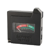 Battery Tester with Meter, Pocket-size