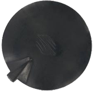 "CarbonFlex 4"" Round, Pin, Insulated, Non-Gelled, Carbon Rubber"